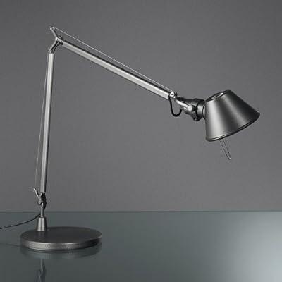 Artemide - Tolomeo Midi LED - Grau, mit Dimmer, mit LED (3000K), mit Standfuß von Artemide - Lampenhans.de