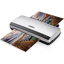 INTEY- Plastificadora A4 Plastificadores 3-5 Minutos De Calentamiento Rápido Para Papeles Carta, Tarjeta De Visita Y Foto(Incuye 10 Mic Fundas De Plactificar)