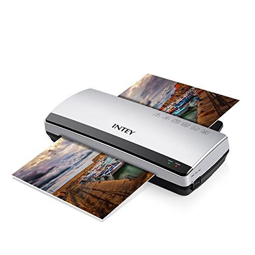 INTEY Plastifieuse A4 Plastifieuse Document 250mm/min Chauffage Rapide Machine à Plastifier 2...