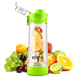 Amazon Brand: Eono Essentials Infuser Fruit Water Bottle with Handle, Fruit Water Bottle