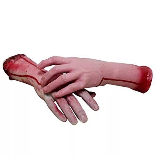 Halloween Requisiten Körperteile - Jnzr Halloween Realistic Latex Bloody Human