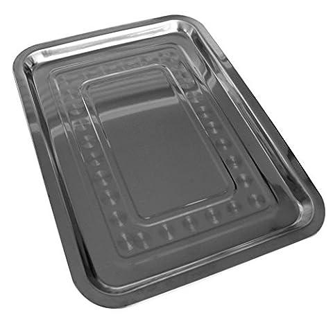 Edelstahlplatte Beilage Gemüsegericht kleinen rechteckigen Bodenplatte Grillplatte aus
