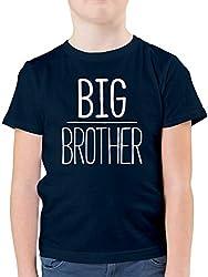 Geschwisterliebe Kind - Big Brother - 104 (3/4 Jahre) - Dunkelblau - F130K - Kinder Tshirts und T-Shirt für Jungen