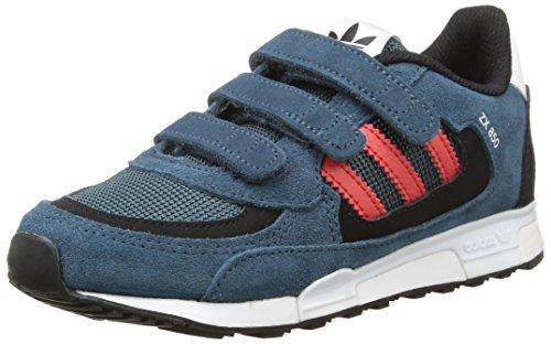 adidas Zx 850 Cf Jungen Sneaker blau (Midnight F15/Tomato F15-St/Ftwr White)