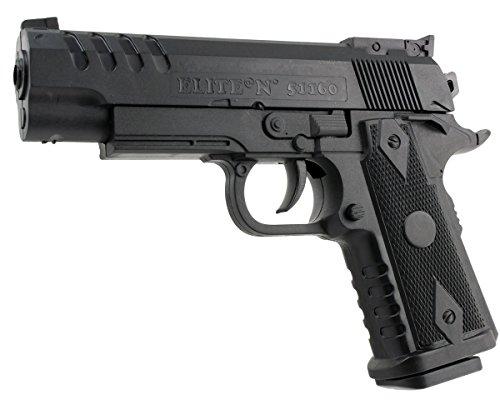 B.W. GYD Spiel Pistole Softair ABS Airgun Gewehr schwarz Magazin Federdruck 0,5 Joule (ES1160)