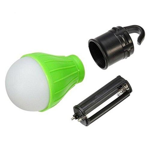 HCFKJ Outdoor Portable Hängenden LED Camping Zelt Glühbirne Angeln Laterne Lampe (GRUN)