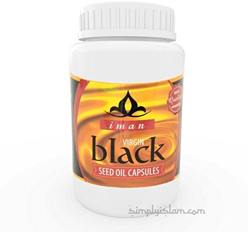 Iman Black Seed Oil Capsules Halal (500mg / 60 Capsules) Kalonji Nigella Sativa
