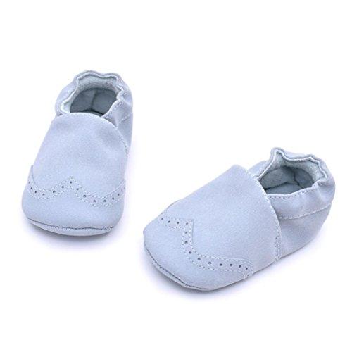 kingko® Mode Tassel Soft Sole Klein kind Schuhe Prinzessin Soft Sohle Schuhe Kleinkind Freizeitschuhe( Geschlecht: Unisex) Blau