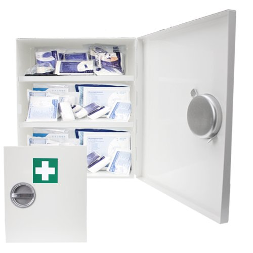 Fertige Schrank (Verbandsschrank - Erste Hilfe Schrank - Kasten DIN 13157 inkl. Füllung)