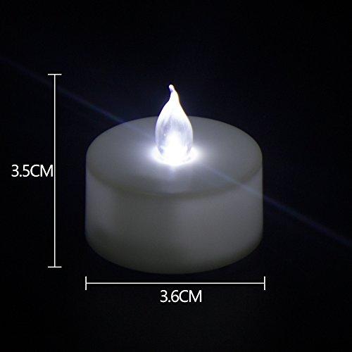 loguide LED Flicker Votives Power Vela con la llama realistas anillo Flame Decoración Boda Navidad Luz nocturna cálido/Cool White
