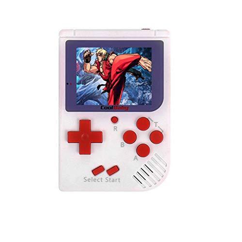 RS-6NES Handheld Spielekonsole Retro Mini-Handheld-Videospielkonsole Gameboy Integrierte 129 Klassische Spiele (Weiß) - Boy Mit Game M