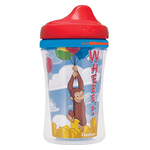 Image of NUK Gerber Graduates Curious George Insulated Hard Spout Sippy Cup, 9-Ounce, 2-Pack