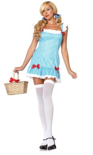 Leg Kostüm Dorothy Avenue - Leg Avenue 83654 - Liebling Dorothy Kostüm, Größe M/L, blau