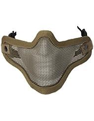 ALEKO pbm209tn Air suave protector de alambre de malla máscara de media cara Chin boca cobertura, color marrón