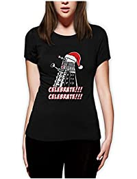 Celebrate Extrminate Women Fitted Top T-Shirt