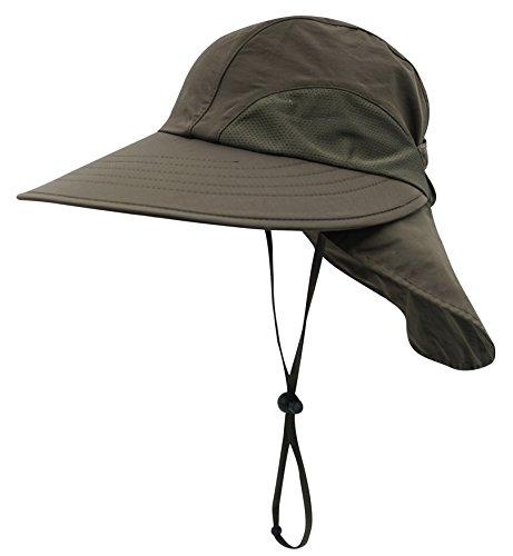 Decentron Unisex 4 Langer Bill Flap Hut Sonne Hüte Safari Outback UPF 50 Hut mit Hals Flap - (Hut Erwachsenen Safari)