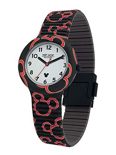 Hip Hop Watches - Unisex Hip Hop Uhr Sonderedition Jubiläum Disney Micky Mouse - Kollektion Retro Micky - Silikonarmband - 35mm Gehäuse - Wasserdicht