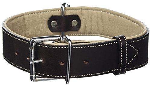 Knuffelwuff 13910-002 Leder Hundehalsband Lederhalsband Hund, 35-40 cm, braun - 2