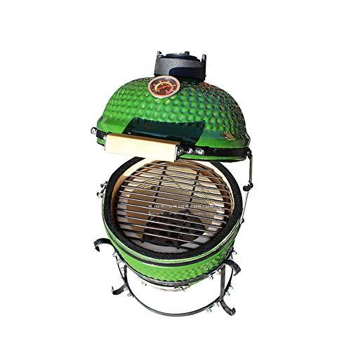 ILUVBBQ 13 Pulgadas de cerámica BBQ Grill Pizza Horno Estufa de carbón...