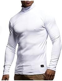 Herren Rollkragenpullover Pullover Rollkragen Hoodie T-Shirt Slim Fit; Größe XXL, Weiß