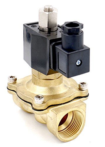 Normalerweise Offene Magnetventil (Woljay Magnetventil 1/2 Zoll DC 24V Wasser Luft Gas (Normalerweise Offen) Ersatz Messing Ventil)