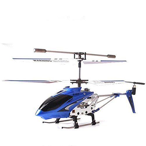 Syma S107G 3 Kanal RC Helikopter Hubschrauber See-in every way out Copter mit eingebautem Gyro Spielzeug Blau