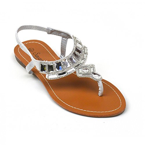 Kick Footwear Ladies Fashion Summer Flip Flops Sandals White