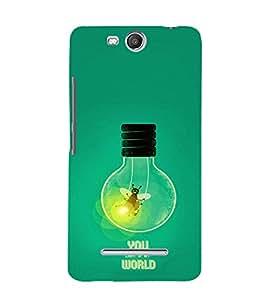 EPICCASE Light my world Mobile Back Case Cover For Micromax Canvas Juice 3 Q392 (Designer Case)