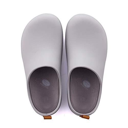 Pantofole ciabatte scarpe pattini sandali baotou infermiere medico estate femminile il nuovo buco da giardino scarpe eva tingting (colore : gray, dimensioni : 35-36)