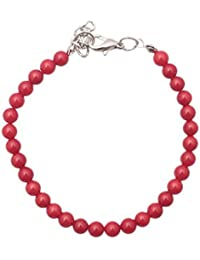 Rote Korallen Armband Perle 5mm