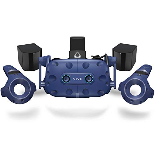 HTC Vive Pro Eye (2019) - Precision Eye Tracking Virtual Reality (VR) Headset Bundle - UK Stock