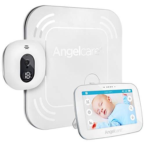Angelcare AC117- Babyphone Vidéo Sans Fil avec Tapis Moniteur de Mouvements - Blanc