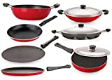 Best Cooking Pot Sets - Nirlon Non-Stick Aluminium Cookware Set, 7-Pieces, Red Review