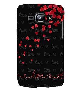 Printvisa Love Quote In A Black Back Ground 3D Hard Polycarbonate Designer Back Case Cover For Samsung Galaxy J2 (2015) :: Samsung Galaxy J2 J200F Black