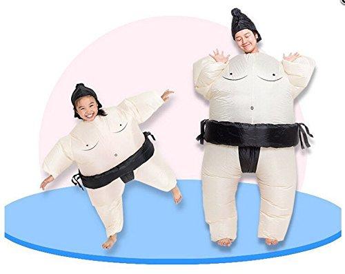 J.Sparking Halloween/Christmas Party Aufblasbare Kleidung Masquerade Spoof Cartoon Doll Aufblasbare Kleidung Sumo Anzug Cosplay Kostüm Erwachsene, Kinder (Mehrere Optional)