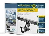 Weltmann AHK Jeep Renegade Brink Kit Complet avec attelage de remorque Amovible + kit...