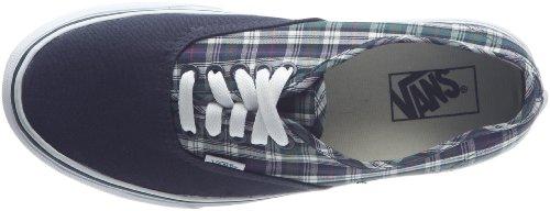 Vans  Authentic,  Unisex-Erwachsene Abgerundete Spitze Blau - Bleu ((Uni Plaid) Navy)