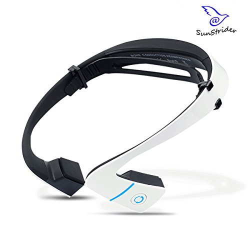 Avrcp Stereo (HEN Knochenschall Bone Conduction Technologie Kopfhörer offenes Ohr Stereo-Kopfhörer Bluetooth 4.1 Kopfhörer für Sport (White))