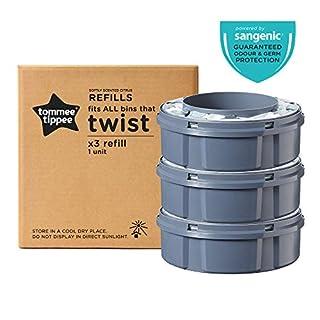 Tommee Tippee Sangenic Recambios Sistema avanzado para desechar pañales Twist & Click, paquete de 3 (compatibles con los contenedores Sangenic TEC y Twist and Click) (B07KBC498P) | Amazon Products