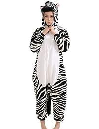 Amour-Sleepsuit Pyjamas Kostüm Cosplay Homeware Lounge Größe passt S/M/L/XL (m, Zebra)