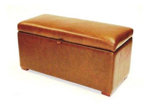 Footstools2u Gran Banco de almacenaje (Piel Mustang óxido