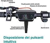 Windgoo Monopattino Elettrico Pieghevole, velocità Massima 25km/h, Autonomia 25km, Motore 250W, Grande Schermo LCD, 8,5 Pneumatici, 2 modalità di velocità (Nero)