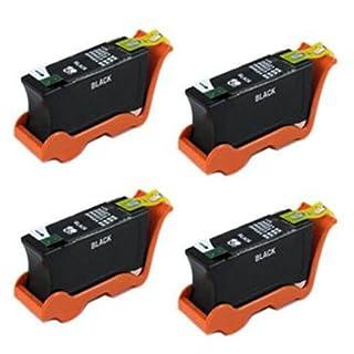 Amsahr U313R Dell U313R, P513w, P713w, V313 Compatible Replacement Ink Cartridges, 4-Pack, Black by Amsahr