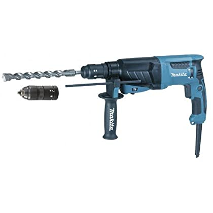 Makita HR2630TX12 Martillo ligero SDS-Plus 800W + mandrino intercambiable + maletin