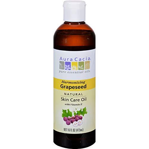 Aura Cacia 0127431 Natural Skin Care Huile de p-pins de raisin - 16 fl oz