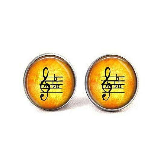 (Violinschlüssel mit Wohnungen–Geschenk für Musiker–Musik lover–Musik Noten Ohrringe)