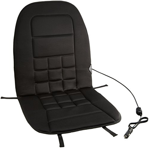 AmazonBasics Cojín calefactable para asiento de coche con controlador de temperatura de 3 niveles (12 V, poliéster, asiento de copiloto, última versión)