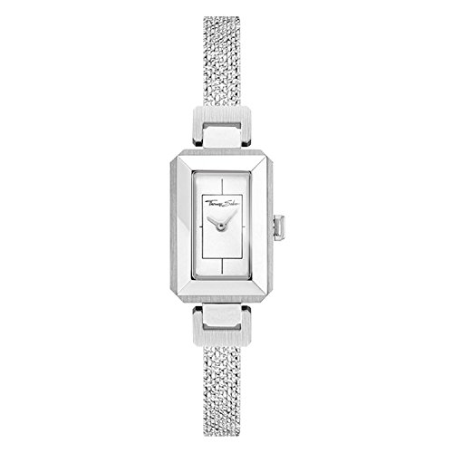 Thomas Sabo Damen-Armbanduhr Mini Vintage silber Analog Quarz WA0330-201-202-23x15,5 mm