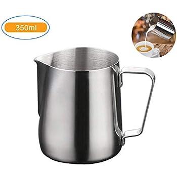 latte 20oz // 600ml tazza di latte in brocca per caff/è in acciaio inossidabile con brocca di latte dellolecrano per cappuccino Bricco da latte pentola per il controllo della temperatura per caff/è