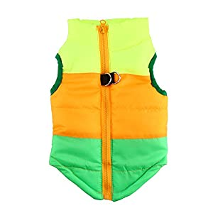 IdepetTM-Pet-Dog-Cat-Coat-with-Leash-Anchor-Color-Patchwork-Padded-Puppy-Vest-Teddy-Jacket-Chihuahua-Costumes-Pug-Clothes-XS-S-M-L